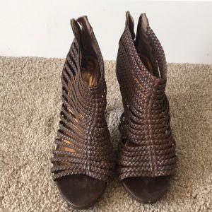 Zara brown strappy heels